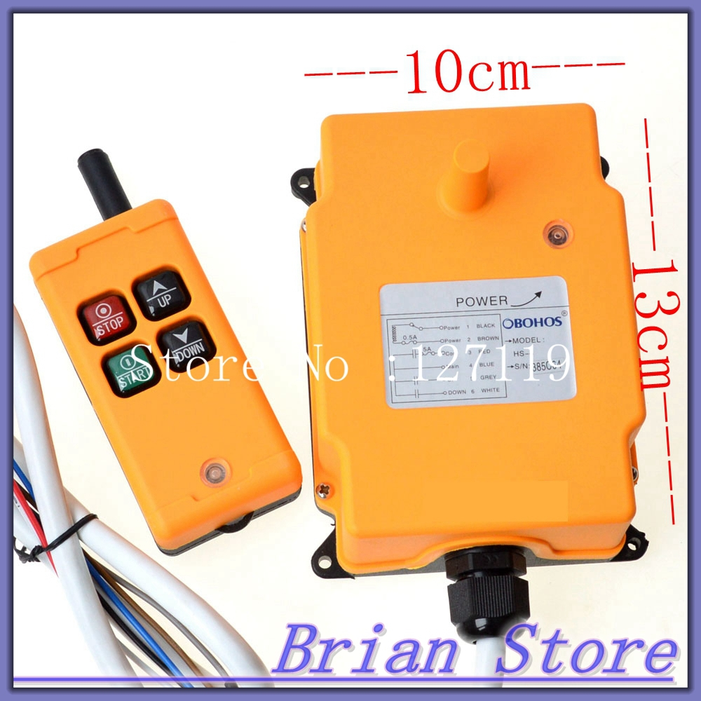 Image 5 - 1 Transmitter 4 Channels 1 Speed Control Hoist industrial wireless  Crane Radio Remote Control System OBOHOS-in Switches from Lights & Lighting