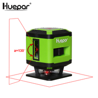 Huepar Red Beam Floor Laser Level for Tile Laying Square Leveling, Cross Line Laser 360 Degrees Coverage Horizontal Line FL360R