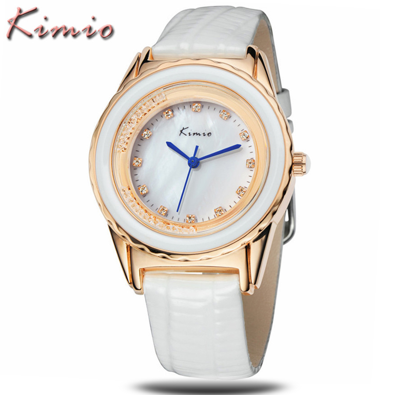 montre femme new fashion jewelry women watches luxury brand kimio genuine leather waterproof. Black Bedroom Furniture Sets. Home Design Ideas