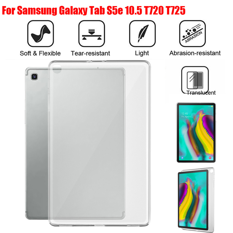 Tablet Back Case Cover Protector For Samsung Galaxy Tab S5e T720 T725/Tab A SM-T510/515 Tab A P205/P200 TPU Gel Silicon Case S30