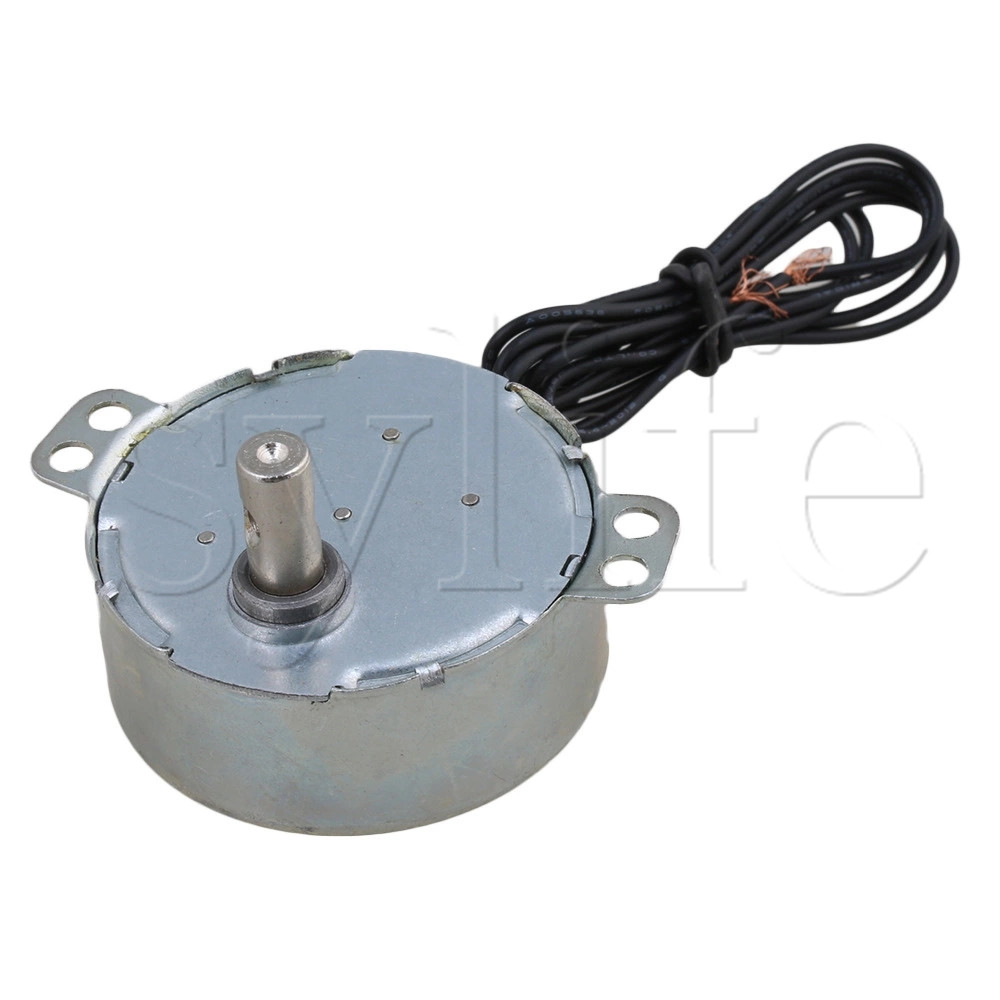 CHANCS TYC-50 Small Synchronous Synchron Motor 110V AC 15-18RPM Shaft Rotation CW 4W Gear Syn Motor For Electric Fireplace