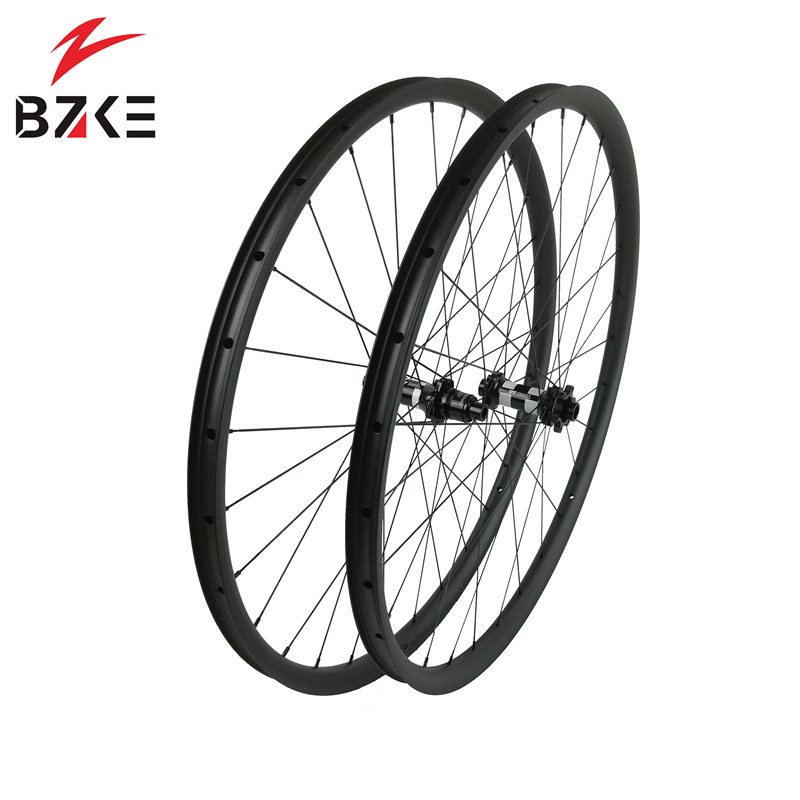BZKE carbon wheels 30mm width 29 inch carbon mtb bicycle wheelset boost  carbon mtb wheels 29 bike wheelset 350 hubs-in Bicycle Wheel from Sports & Entertainment