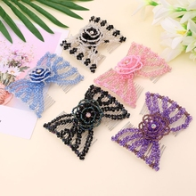 Magic Beads Elasticity Double Hair Comb Clip Stretchy Combs Clips Hair Accessories variety wooden beads hairpins hair accessories crown hair clips hair comb magic acrylic vintage slide hair comb 2 colors