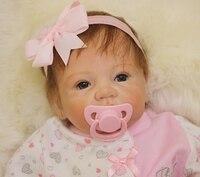 55cm Soft Vinyl Baby Dolls Reborn Babe Doll Toys for Kids Birthday Christmas Gifts Princess Girl DIY Playmates Movie Photo Props