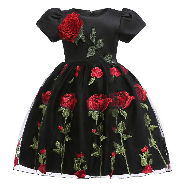 2018 Girls Dresses autumn winter baby girls clothes Fashion childrens clothing for 2-8 yrs girl Birthday Christmas vestidos
