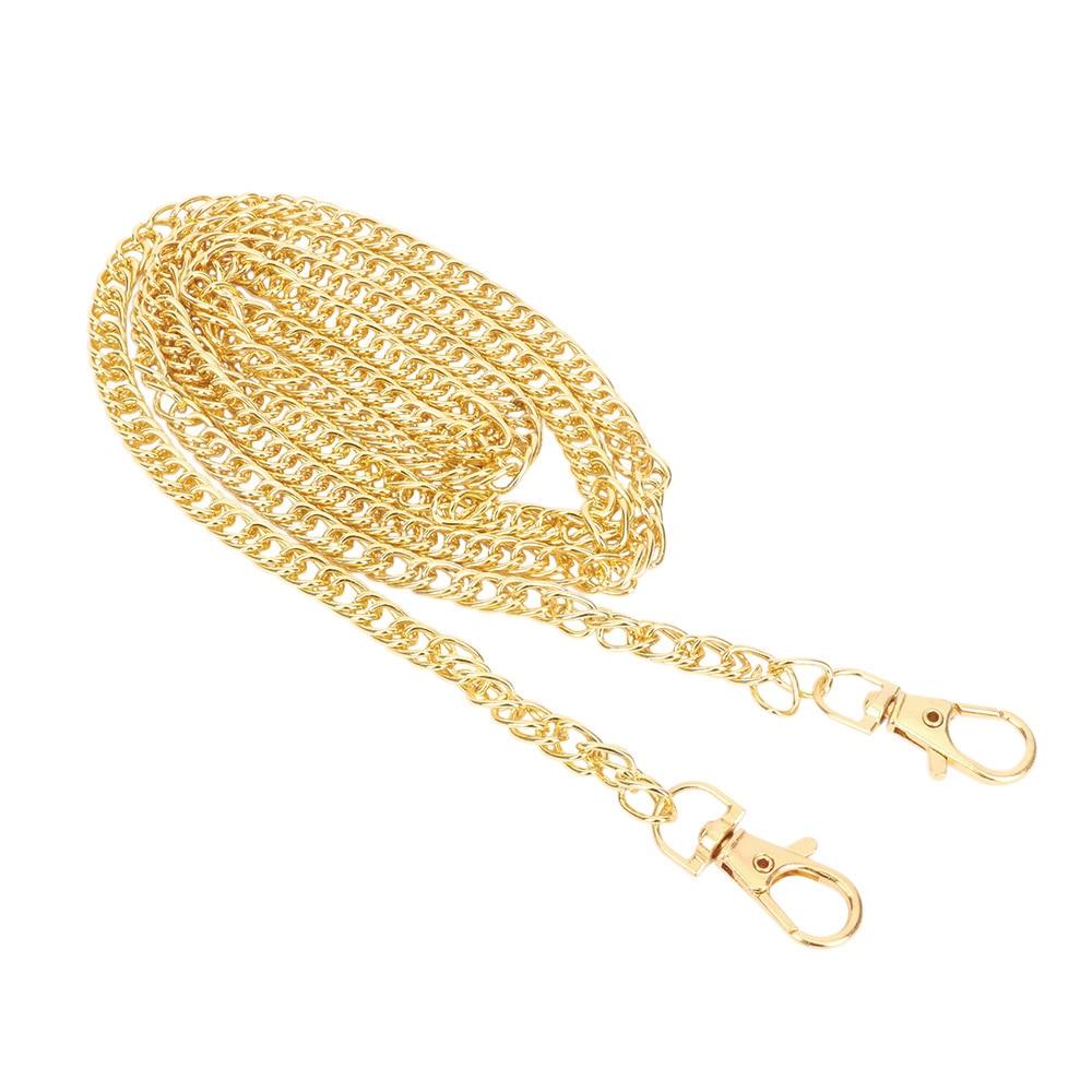 120 CM \ 100 CM \ 40 CM Metal Stainless Steel Purse Chain Strap Handle Shoulder Crossbody Handbag Bag Belt Metal Replacement