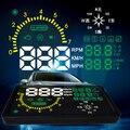 I6 Universal Car HUD Head Up Velocidade de Exibição do Sistema OBD II Com Aviso de Excesso De Velocidade e Bússola