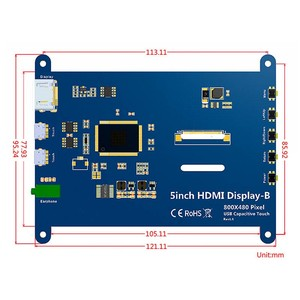 Image 3 - Elecrow 5 inch Touchscreen Portable Monitor HDMI 800 x 480 Capacitive Touch Screen LCD Displays Raspberry Pi 4 Display