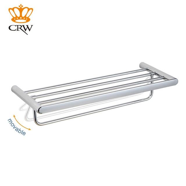 CRW Bathroom Towel Rack Shower Caddy Copper Wall Mount Space Rack Moveable  Towel Hanger Bar 2