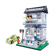 DIY Christmas gift Enlighten Child educational toys WANGE Villa House toys building block sets,children toys free Shipping 31053