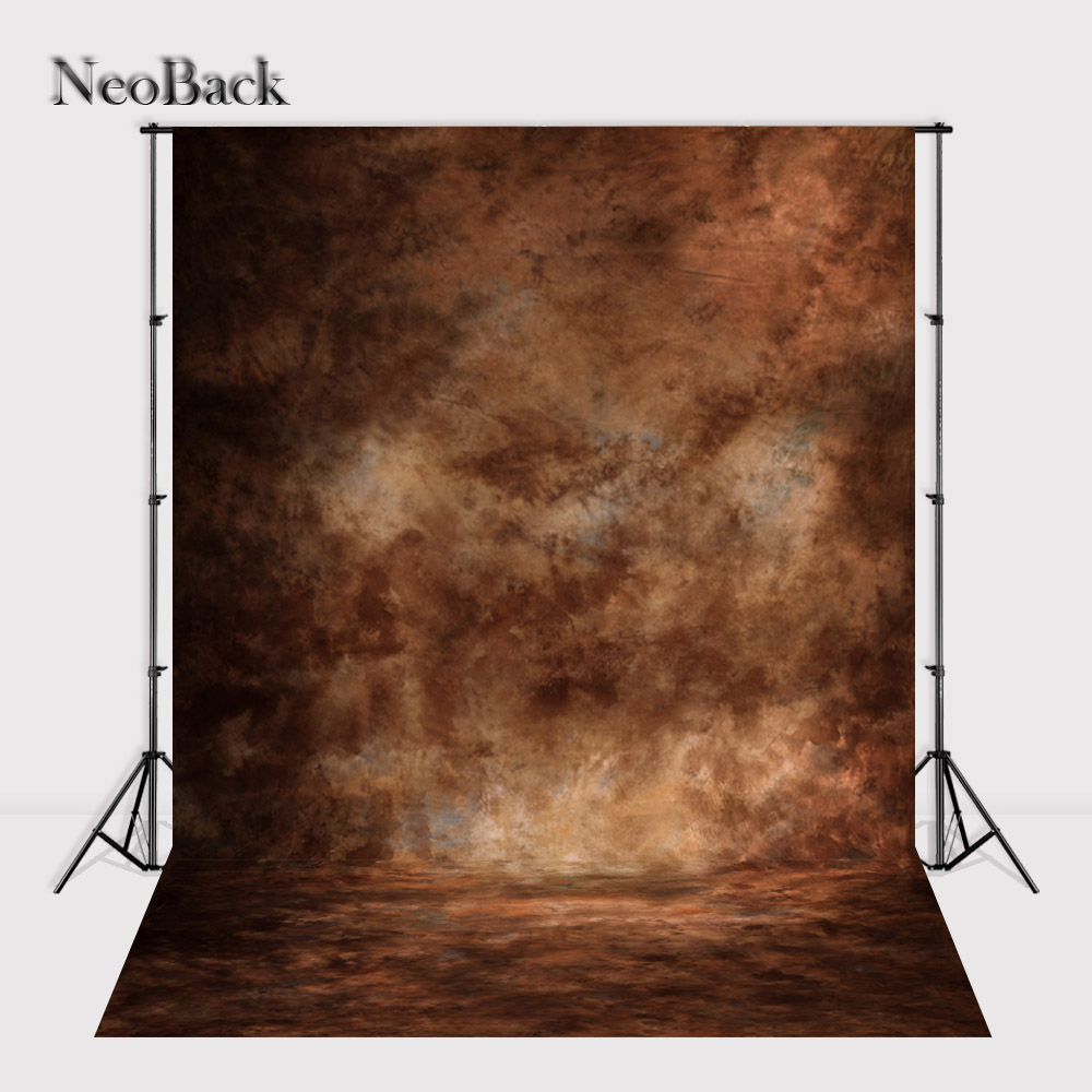 NeoBack 6x12ft vinyl portrait brown tone photography background Black texture background wall backdrops for Photo studio P1036 shengyongbao 300cm 200cm vinyl custom photography backdrops brick wall theme photo studio props photography background brw 12