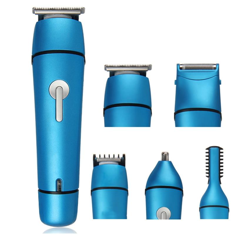Tondeuse à cheveux multifonction 5 en 1 tondeuse à cheveux électrique professionnelle tondeuse à cheveux tondeuse à barbe pour hommes Barber 110-240 V