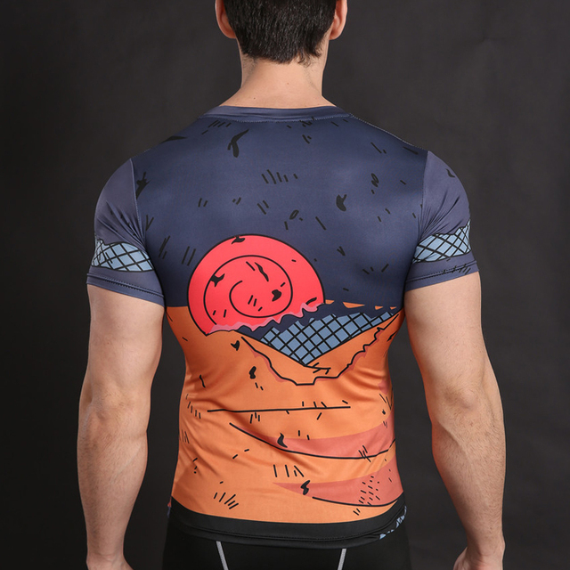 Naruto Cross-fit Short Sleeve Shirt in Various Characters