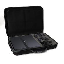 Najnowszy PS4 Slim/PRo twarda torba z EVA futerał do przenoszenia torebka ochronna z paskiem na ramię Sony Playstation 4 Slim Pro