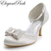 รองเท้าสาวหวานผู้หญิงA3202Cไอวอรี่อัลมอนด์นิ้วเท้าผู้หญิงแต่งงานรอง