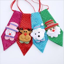 1 Pc Cute Chriatmas Tie Drop Ornaments Red Deer Pink Snowman Green Ties for Kids and Adults Decoration Party New Year Gift(China)