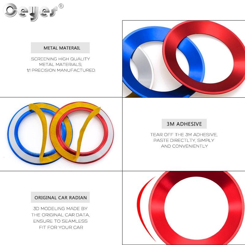 Car steering wheel decoration circle ring sticker for VOLKSWAGEN (10)