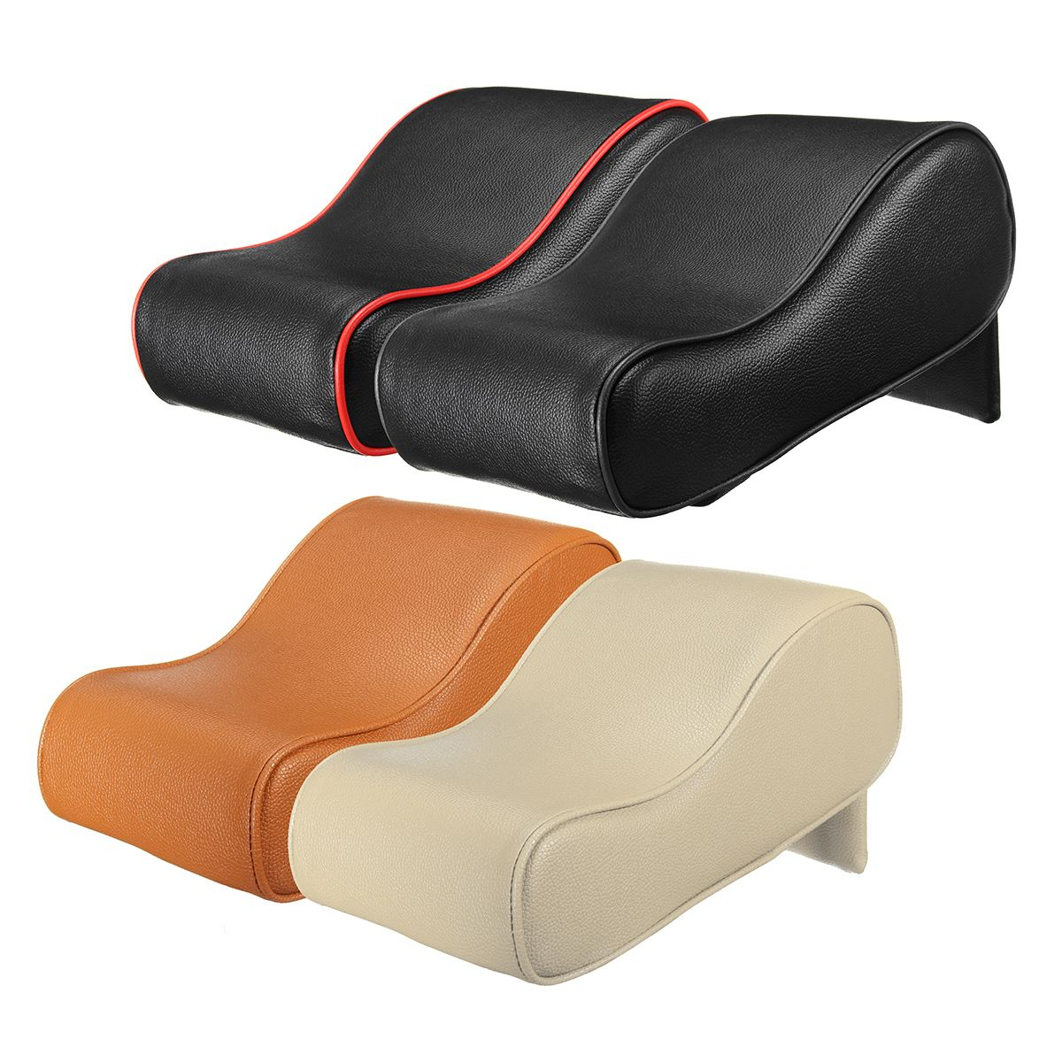 Image 3 - Autoleader PU Leather Car Armrest Pad Universal Auto Armrests Car Center Console Arm Rest Seat Memory Foam Rest Pillow Armrest-in Armrests from Automobiles & Motorcycles