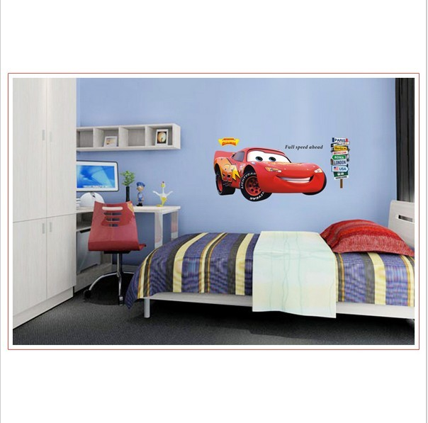 3D Cars Lightning Mcqueen Wall Sticker For Kids Bedroom Vinyl Removable  Decal Adesivo De Parede Home Decor In Wall Stickers From Home U0026 Garden On  ... Awesome Design