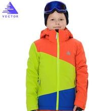 цена на Children Spell Color Ski Jacket Boy Girl Waterproof Windproof Snow Suit Winter Warm Snowboard Outdoor Ski Suit for boys