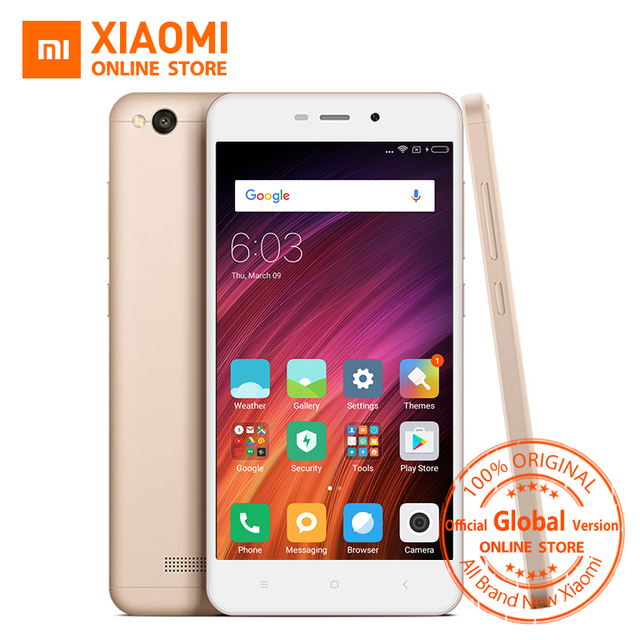 Global Vesion Xiaomi Redmi 4A 4 A 32GB ROM Mobile Phone Snapdragon 425 Quad Core CPU 2GB RAM 5.0 Inch 13.0MP camera 3120mAh