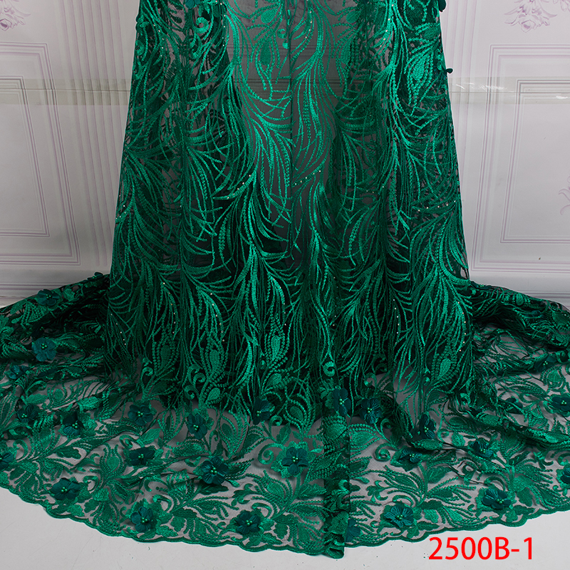 Hot Sale Luxury African Lace Fabric 2019 High Quality Tulle French 3D Lace Fabrics French Lace