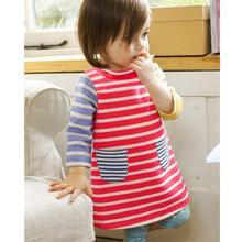 hot deal buy long sleeve stripe dress baby girls clothes 2018 brand winter kids dresses for girls princess dress baby girl christmas dresses
