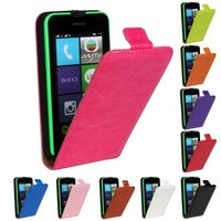 Bussiness Ultra Thin PU Leather Case For Nokia Lumia 530 Magnetic Buckle Vertical Flip Cover Mobile Phone Bag Bags Shell