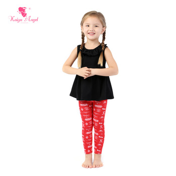 Kaiya Angel Hot Valentine's Day Kids Baby Children Clothes 2017 Toddler Girl Outfit Tracksuits Costume Factory Wholesale