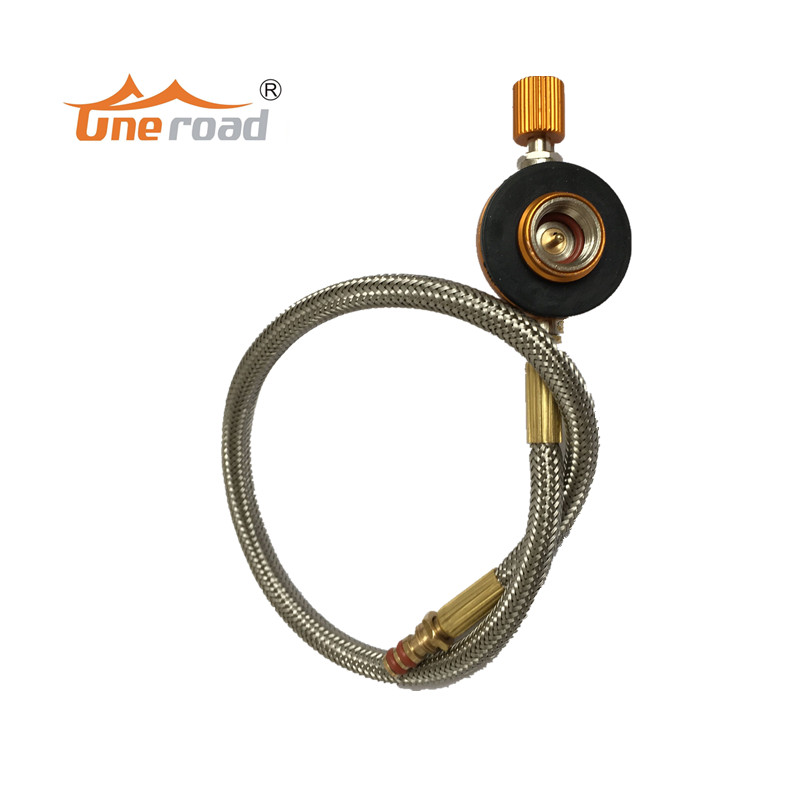 все цены на Outdoor Camping Stove Gas fuel pipe tube burner switch tool Connecting Pipe Hose with Regulating valve Stove accessories онлайн