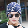 Hot Autumn Winter Knitted Male Skullies Toboggans Beanies Gorro Fleece Lined Soft Nap Warm Man's Printing Fashion Hat