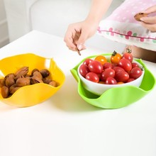 BF040 Multifunctional Double fruit bowl household plate modern fashion creative plastic dry basket 21*9cm