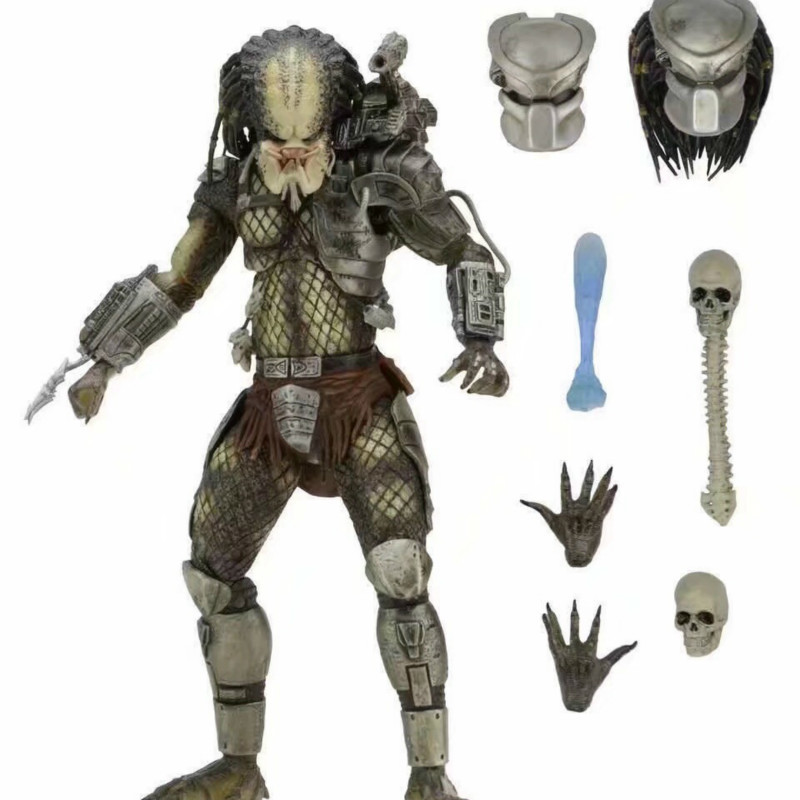 NECA Avp <font><b>Aliens</b></font> Vs Predator Series <font><b>Alien</b></font> Covenant Elder Predator Serpent Hunter Youngblood Predator Movie Toys Action Figures image