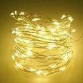 5 м 50 LED на батарейках LED медная проволока гирлянда для рождественской гирлянды для вечеринки свадьбы украшения Рождественские сказочные ог...