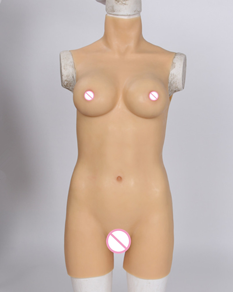 D Cup Rubber Tight Dress Cross Dressing Costume Props Siamese CD Real Silicone Breast Forms Vagina Crossdress Boobs Prothesis цена 2017