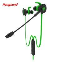 Nieuwe Hongsund G308 gaming Oortelefoon mobiele telefoon PS4/PSP/PC 3.5mm Bedrade Headset met Mic Ruisonderdrukking oortelefoon voor razer v2