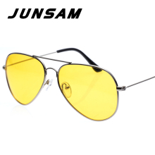 JUNSAM Sport Vintage Men Driving Polarized Sunglasses Yellow Night Vision Goggles for Women Brand Fishing Sun Glasses JSF3025