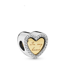Mother's Day New 925 Sterling Silver In My Heart Charm Gift