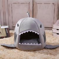 NEW Warm Soft Dog House Pet Sleeping Bag Shark Dog Kennel Cat Bed Cat House M L