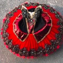 Красная Детская профессиональная черная балетная пачка, синяя балетная танцевальная одежда для взрослых балета, пышное платье для девочек, костюм платье-пачка для женщин