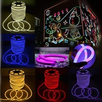 Waterproof IP67 1 30m 2835 SMD LED Colorful Flexible Neon Rope Strip Light Christmas Xmas Outdoor