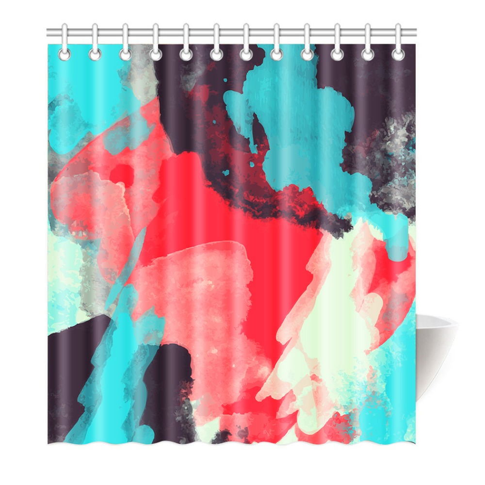 Landscapes Watercolor Design Art Prints Creative Thinking Home Decor Bathroom Fashion Print Polyester Fabric Shower Curtain
