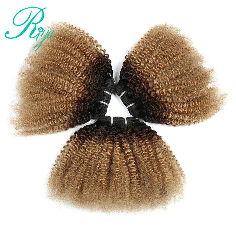 1B 4 27 Color 4B 4C Pattern Mongolian Afro Kinky Curly 3 Bundles 100 Human Hair