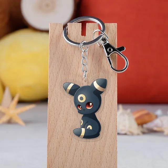 Cartoon Pokemon Keychain Cute Pikachu Key Finder Colorful Enamel Cartoon Key Rings for Women Men Children Gift