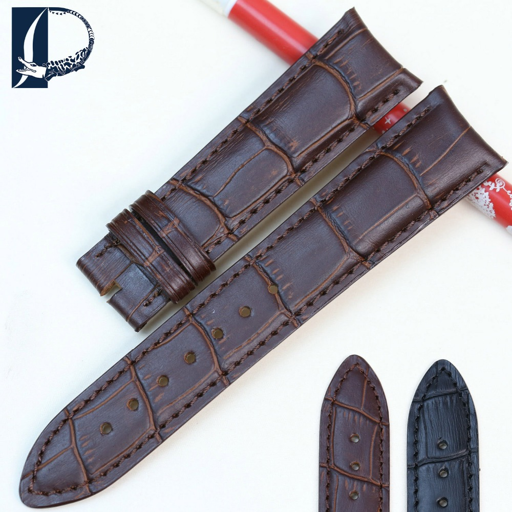 Pesno New Watchbands 20mm Crocodile Alligator Grain Genuine Calfskin Calf Leather Watch Band Strap for Vacheron-Constantin pesno 20mm soft alligator skin leather watch band strap genuine leather watchband for vacheron constantin