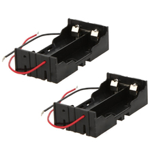 цена на 20pcs/lot MasterFire New Box Holder For 2 x 18650 Black With Wire Leads Plastic Battery Storage Case Cover Free Shipping