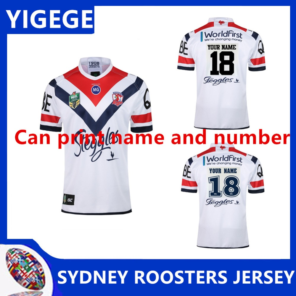 83839816cd1 YIGEGE 2019 NRL RUGBY SYDNEY ROOSTERS 2018 MEN'S AWAY JERSEY 2018 NRL  JERSEYS Australia SYDNEY ROOSTERS Rugby size S 3XL-in Rugby Jerseys from  Sports ...
