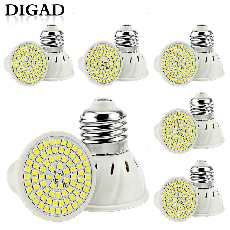 6pcs Led Gu10 Spotlight Bulb Corn Lamp Mr16 Spot Light Bulb Led Gu5.3 Smd2835 B22 E27 Bombillas Led E14 Focos 220v Led Maison