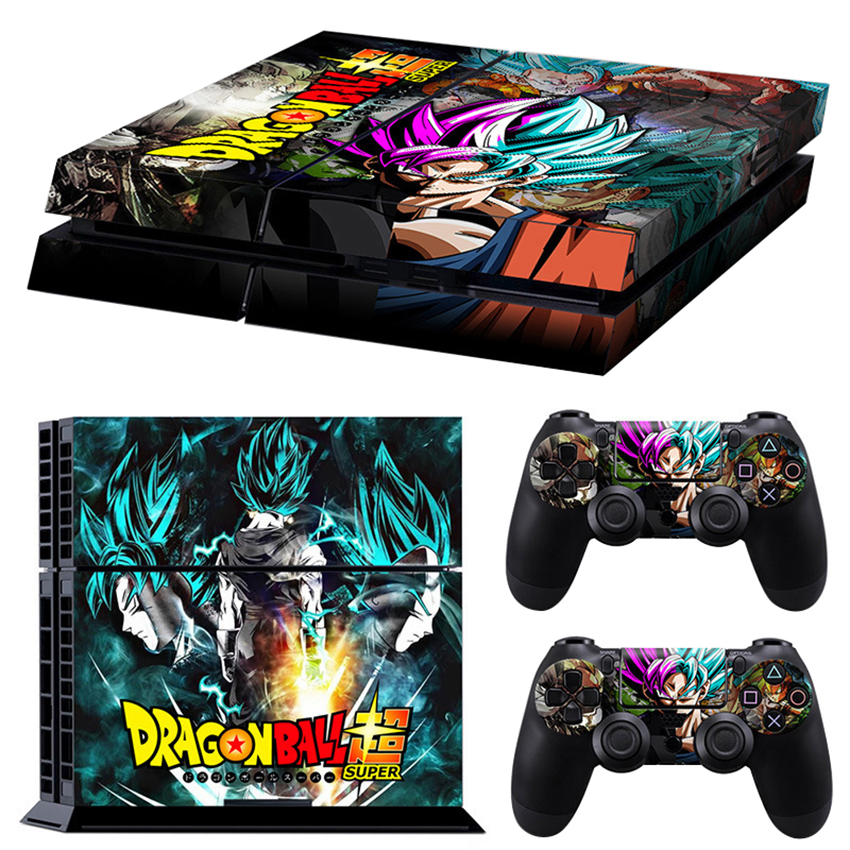 6 Styles Dragon Ball Super Son Gogu Vinyl Cover Decal PS4 Skin For Sony PlayStation 4 Console & 2 Controller Protective Sticker
