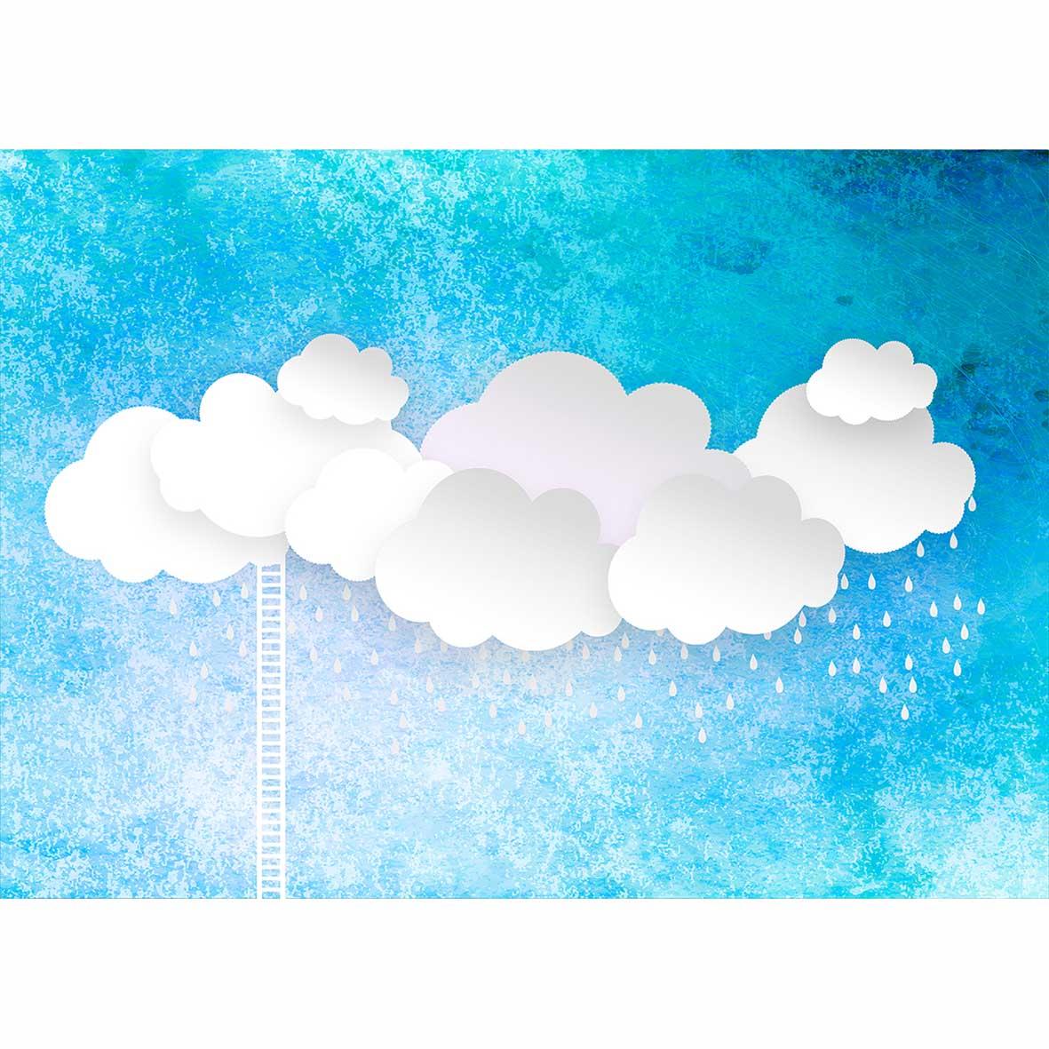 Allenjoy Photographie Fond Bleu Ciel Blanc Nuages échelle Gouttes De